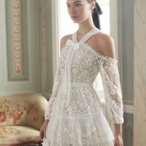 Needle&Thread Primrose tiers lace embroidered gown